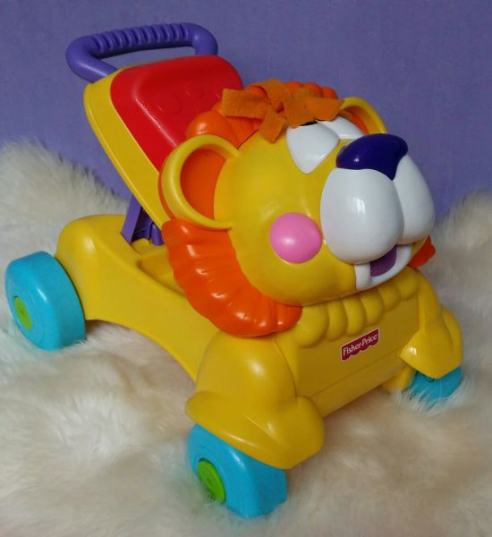 Ходунки - толкатель Лев Fisher Price